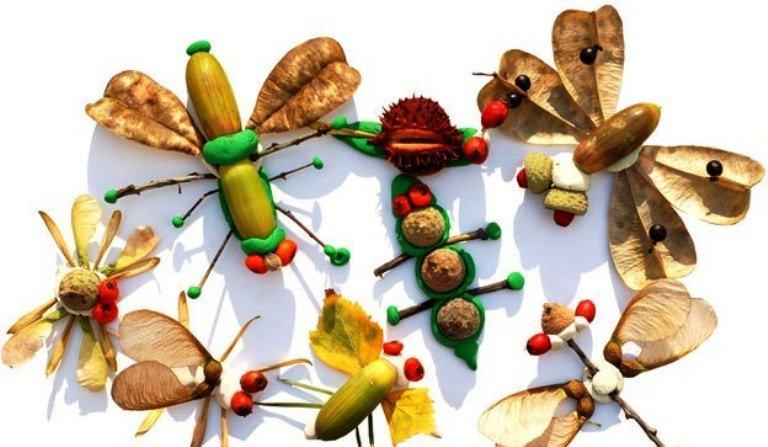 Поделки из природного материала картинки для детей