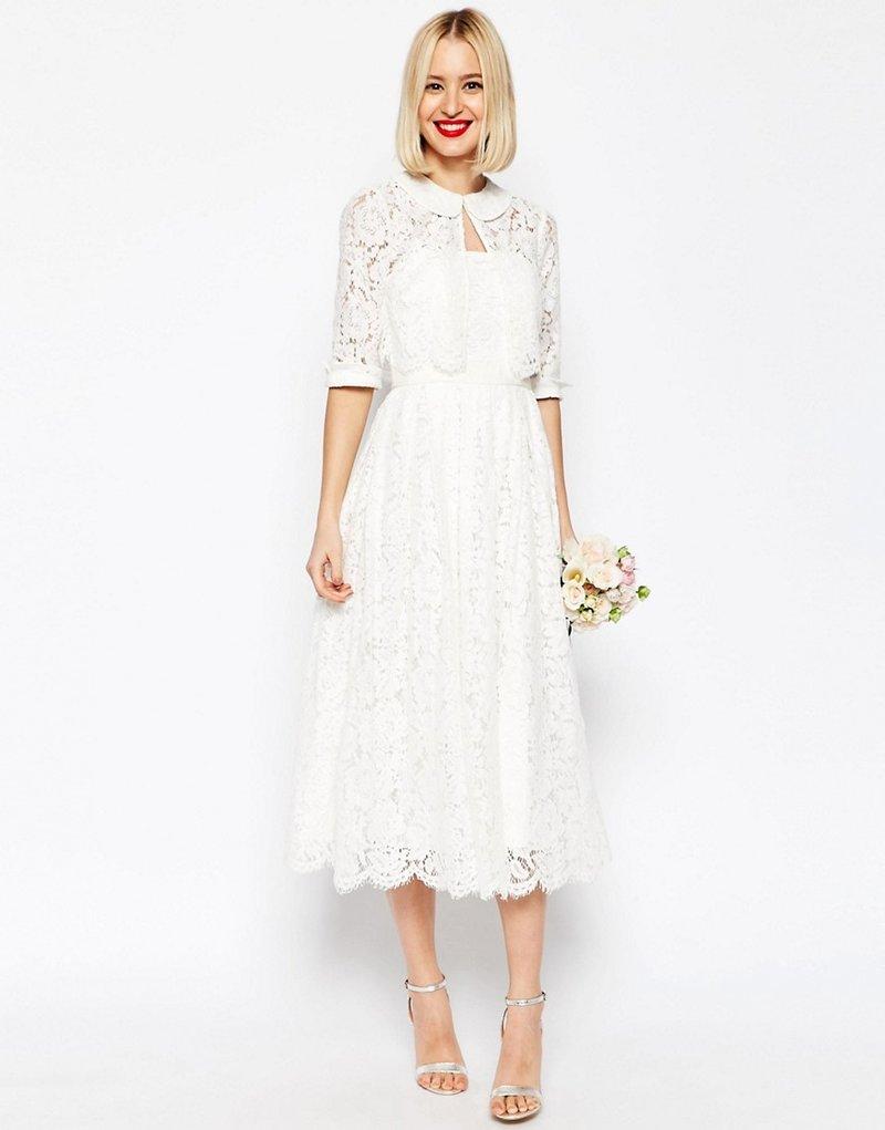 Накидки на платье из кружевного полотна