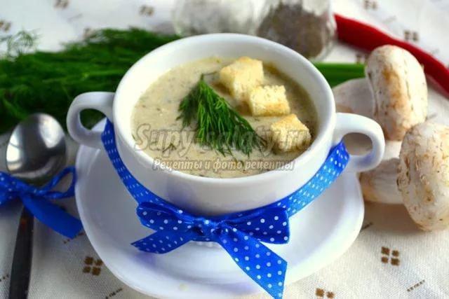 Как приготовить суп пюре из грибов шампиньонов