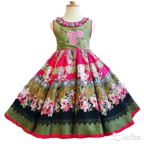 нарядное платье из натуральной ткани для девочки