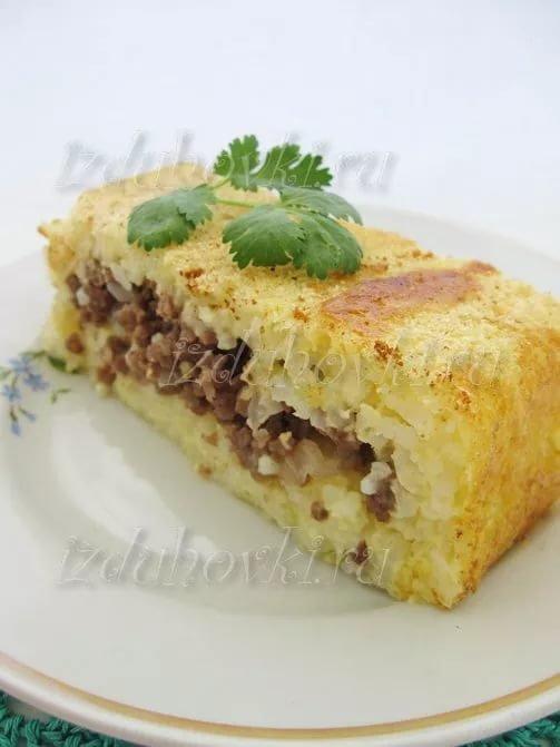 рисовая запеканка с фаршем рецепт поваренок