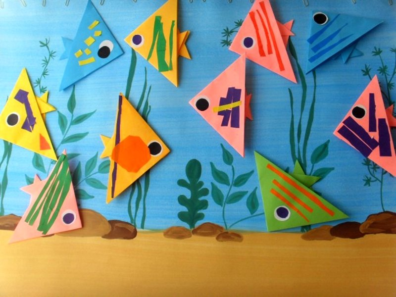 картинки оригами аквариум каждый день детьми