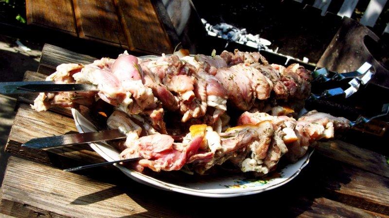 Шашлык из кролика на барбекю купить барбекю для гриль домика