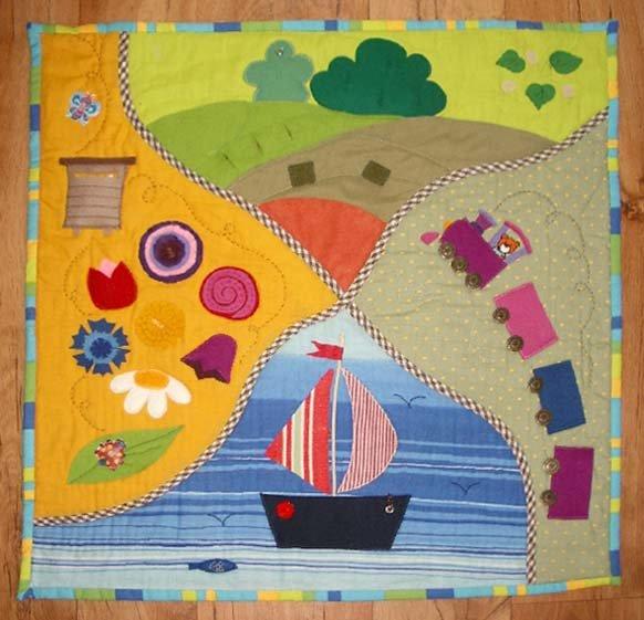 Развивающий коврик для детей своими руками.