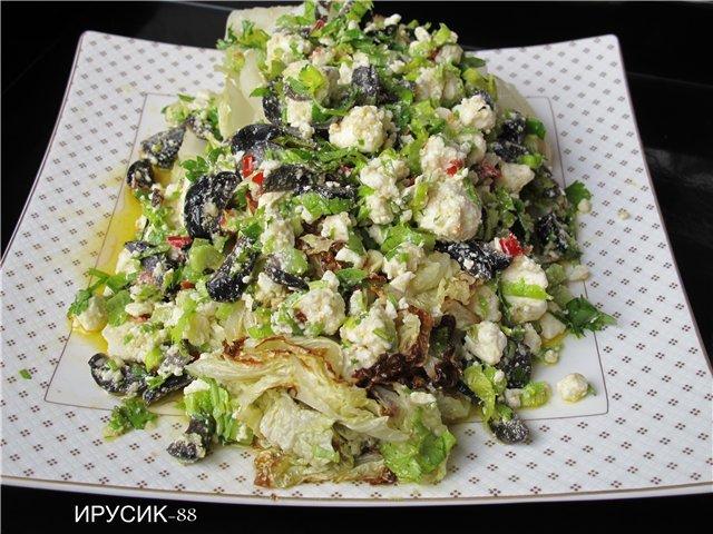 Греческий салат классический  пошаговый рецепт с фото на