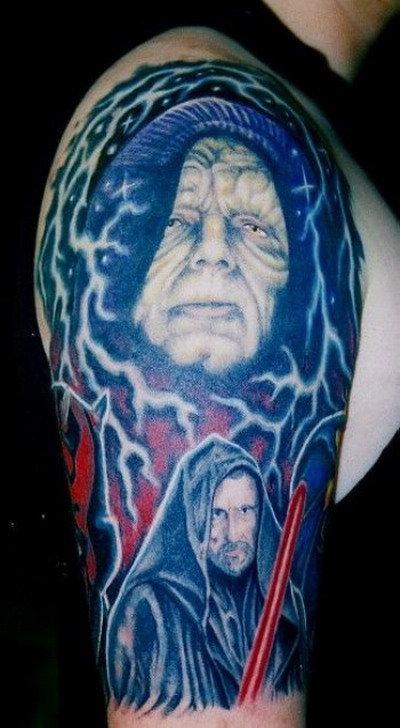 полностью плечо в тату из Звездных Войн