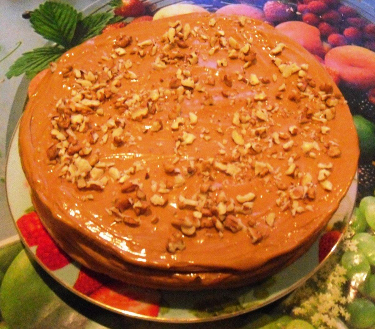 домашний ореховый торт рецепт с фото