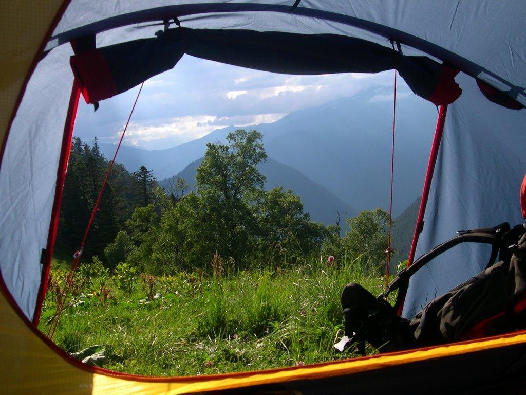 из палатки фотографии