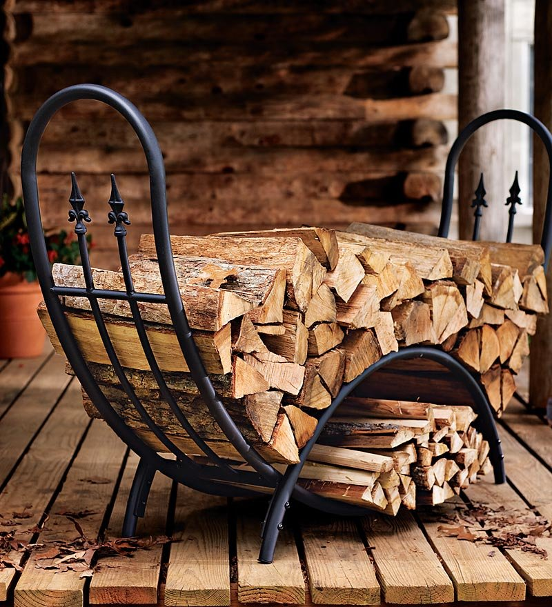 fireplace firewood rack - 690×759