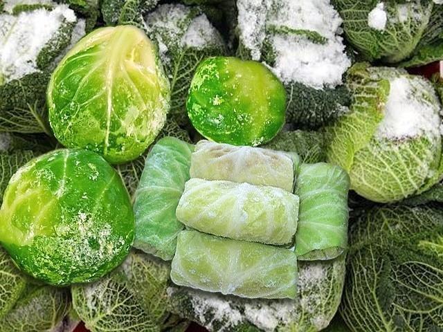 как заморозить капусту белокочанную на зиму в домашних условиях