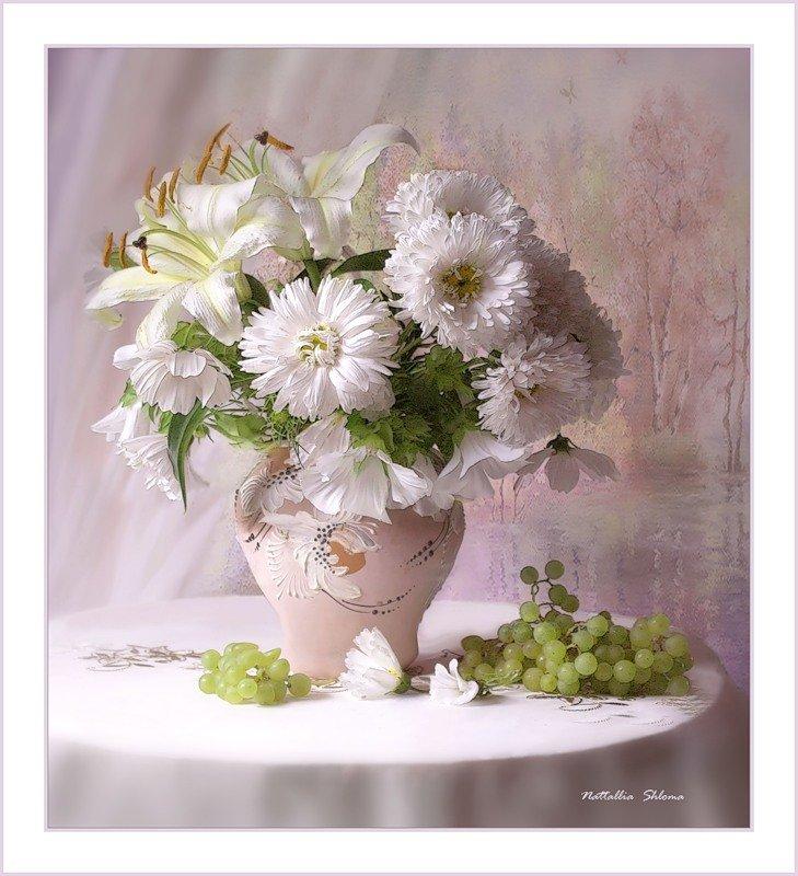 европейский букеты хризантем в вазе фото творожную