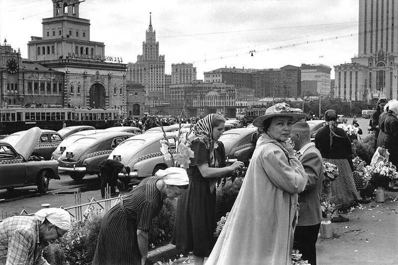 Фотограф Анри Картье-Брессон. Москва.
