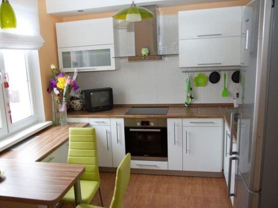 дизайн маленькой кухни студии маленькая кухня четко вписалась в