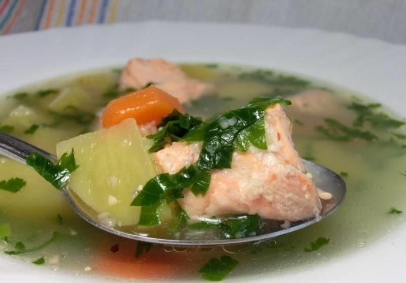 Приготовление рыбного супа из горбуши