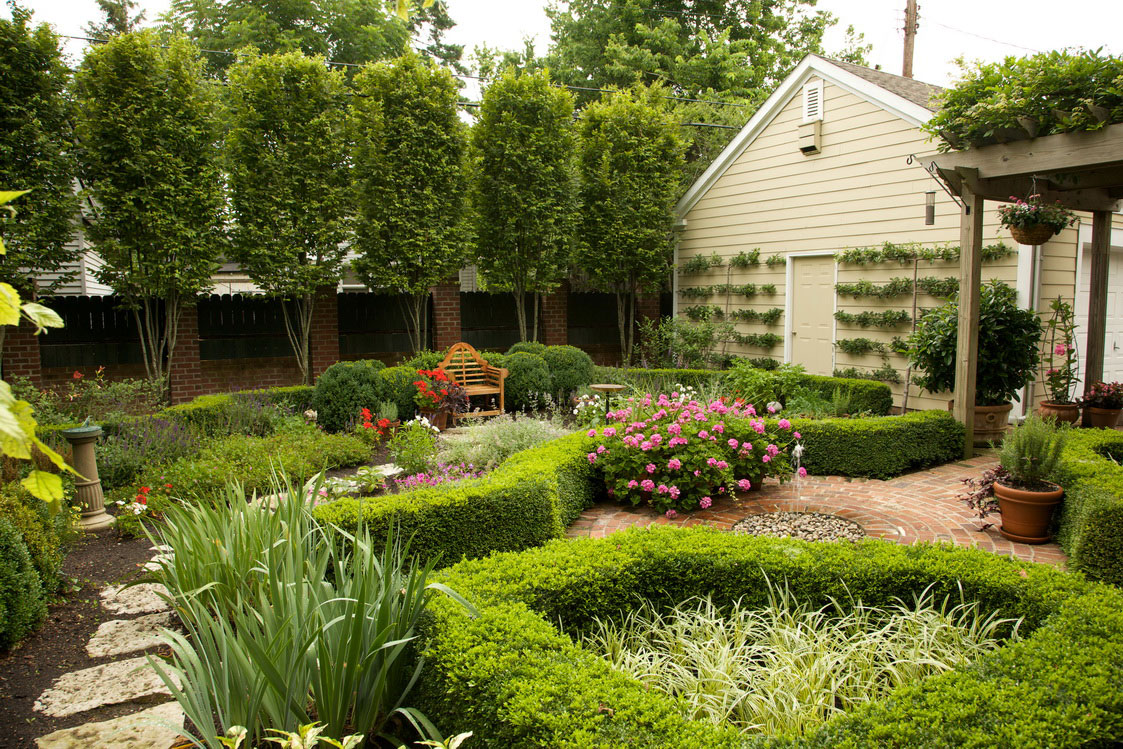 Lovely Ideas Wonderful Beautiful Backyards Design With Small Plants For ...