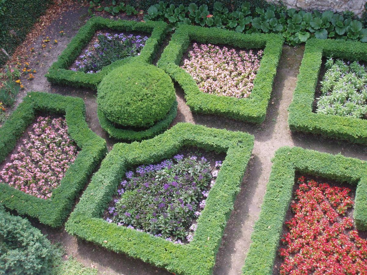 Сад правильной геометрической формы фото
