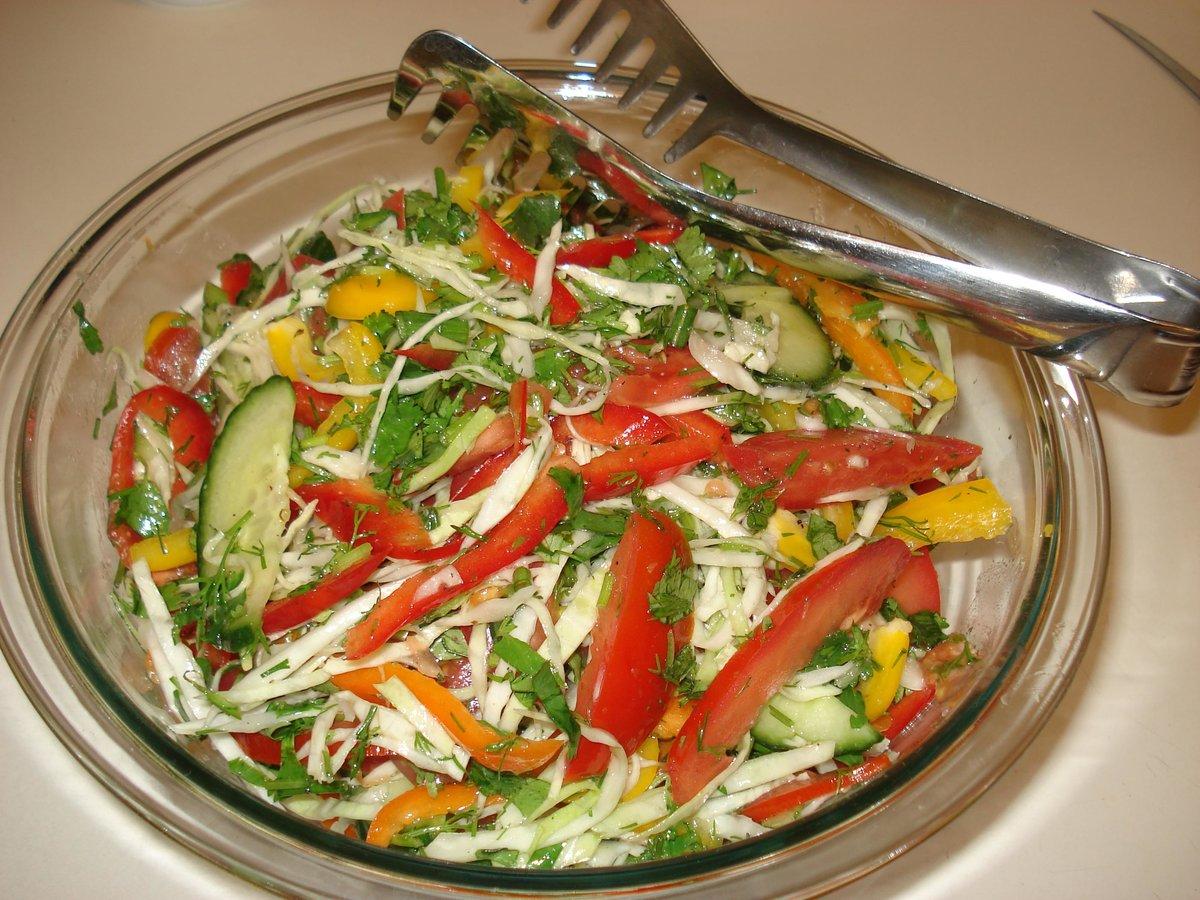 Рецепты только овощных салатов и картинки