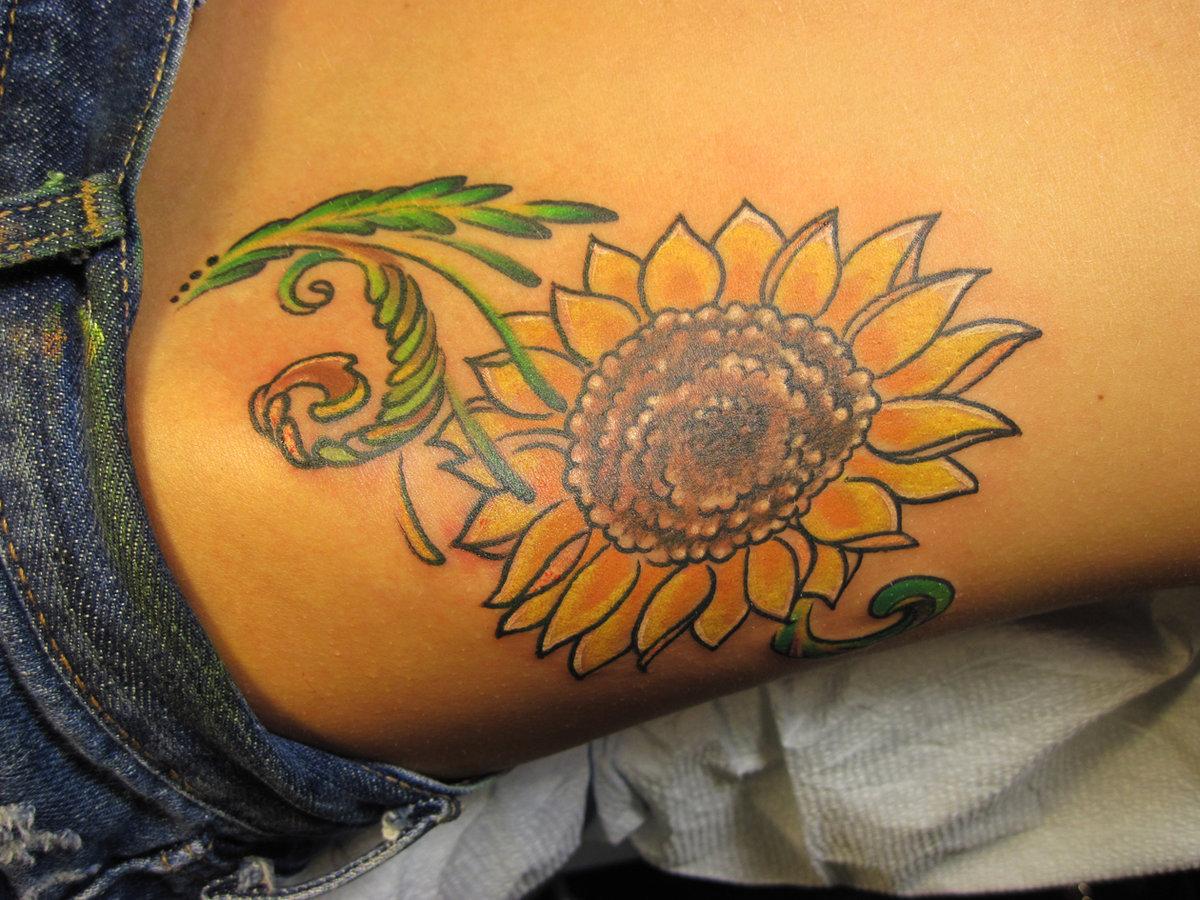 sunflower tattoo images - HD1260×945