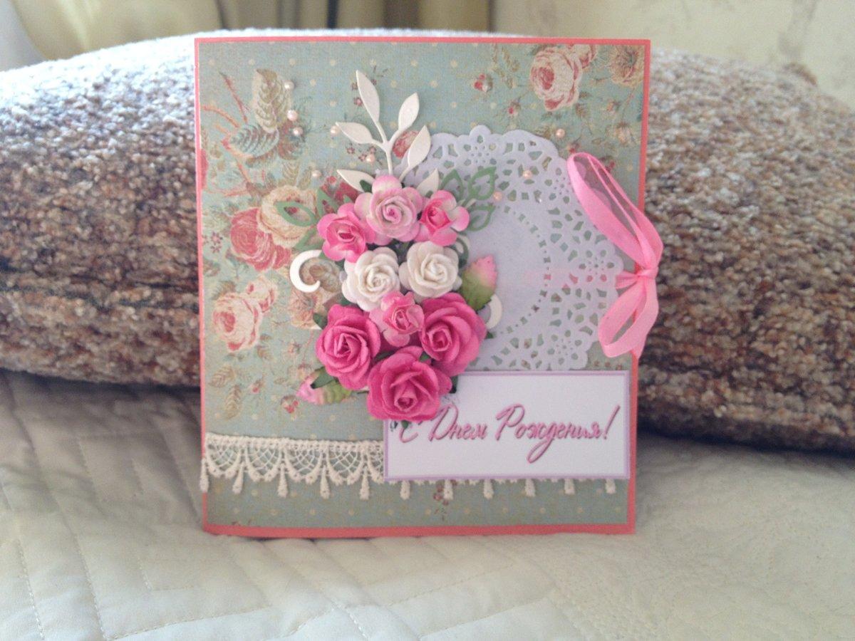 Скрапбукинг открытки с днем рождения своими руками фото