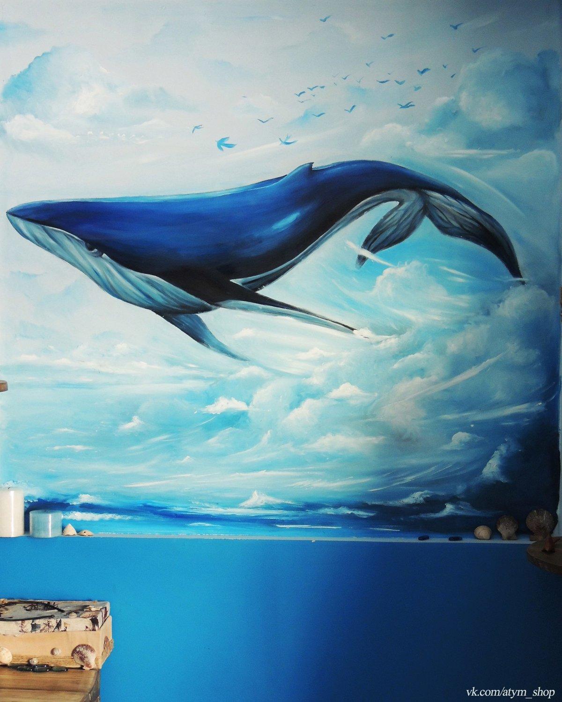 Картинка рисованная кит