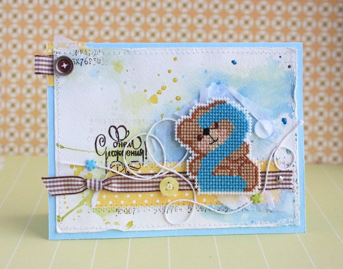 Красивые картинки, скрап открытка мальчику на годик