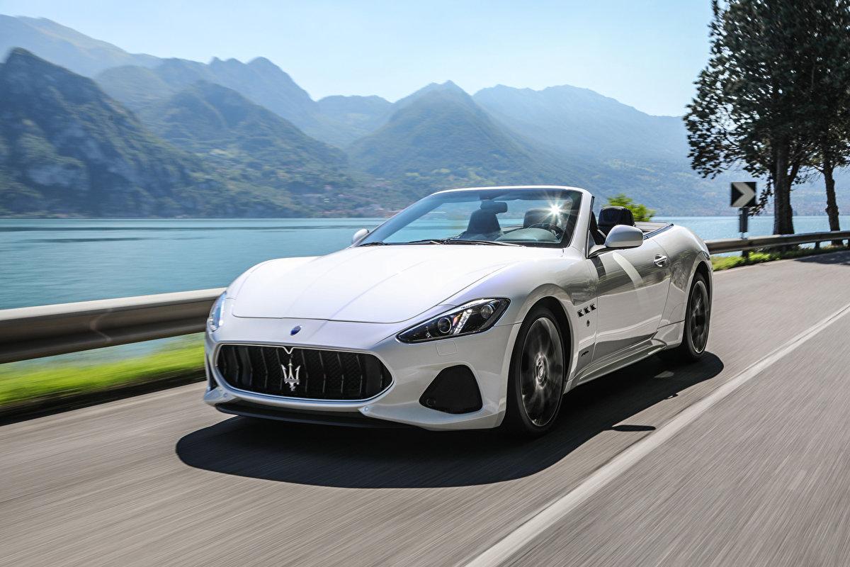 """2018 Maserati Grancabrio >> """"Автомобиль Maserati 2017 GranCabrio MC Белый Металлик Кабриолет Движение Роскошные Автомобиль ..."""