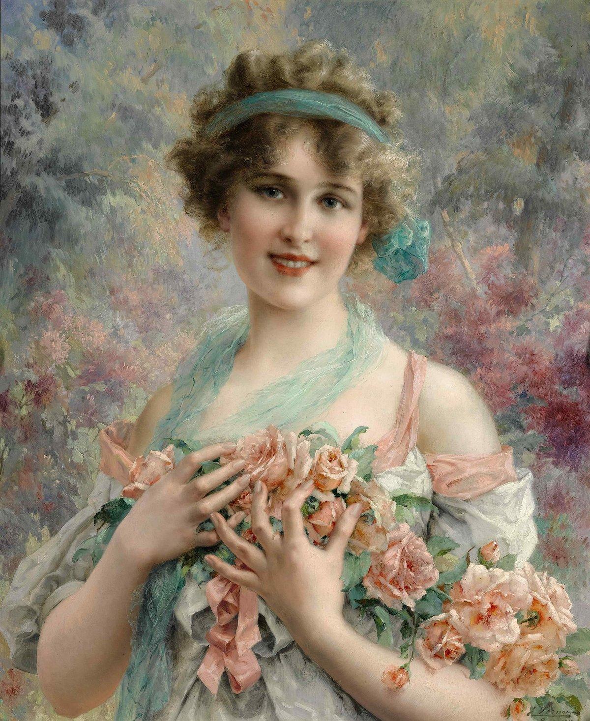 Юбилеем лет, красивые барышни открытки 18-19 века