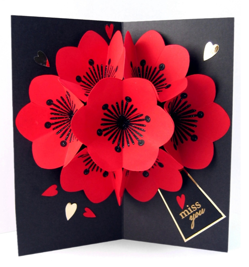 Открытка с цветком внутри своими руками из бумаги