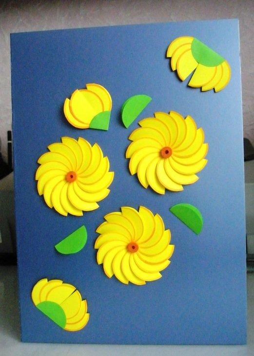 Окончанием, открытки с цветной бумаги своими руками к 8 марта