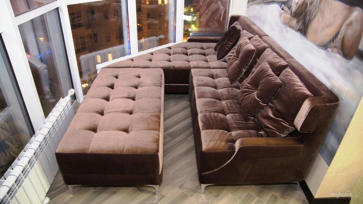 Мягкая мебель для лоджии купить в москве.