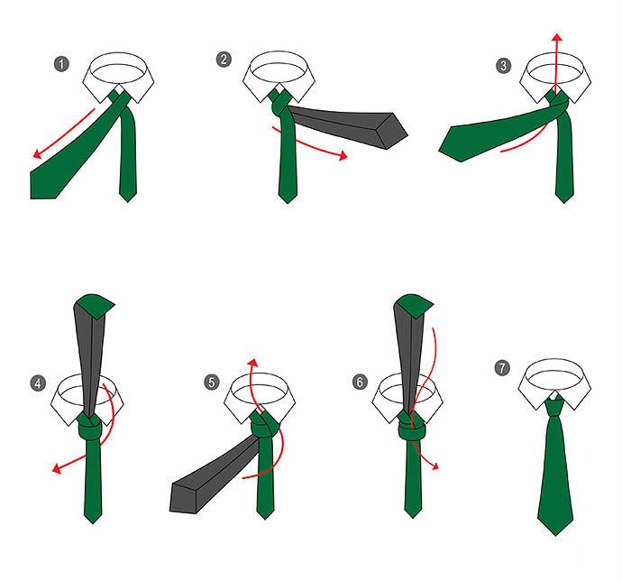 Завязка галстука в картинках