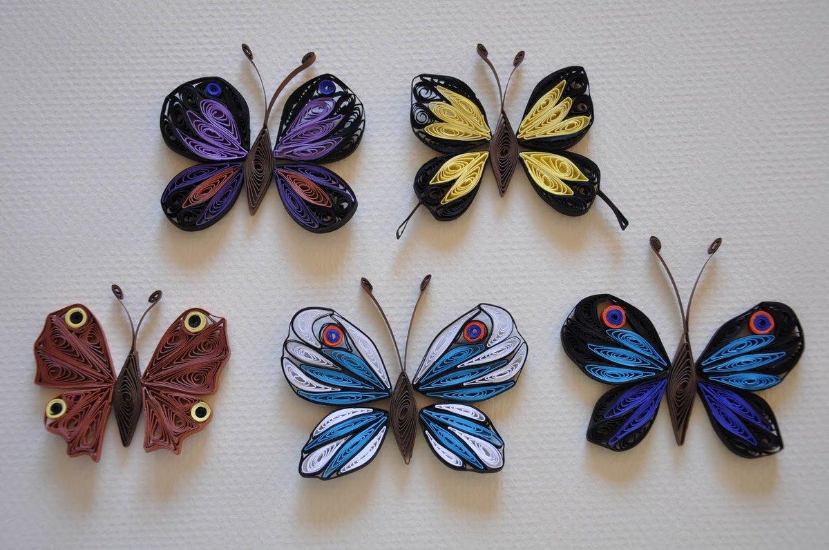 Открытки с бабочками квиллинг, днем