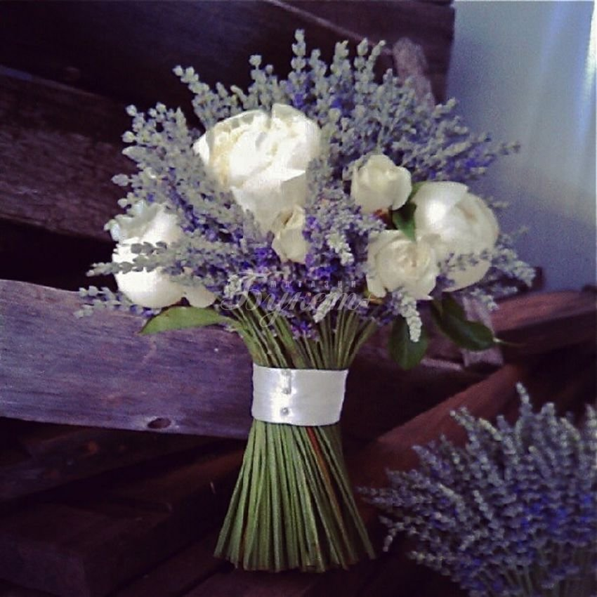 Свадебные букеты из лаванды цены