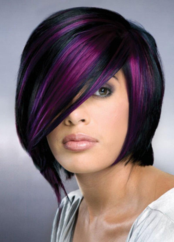 Мелирование цветное на русые волосы