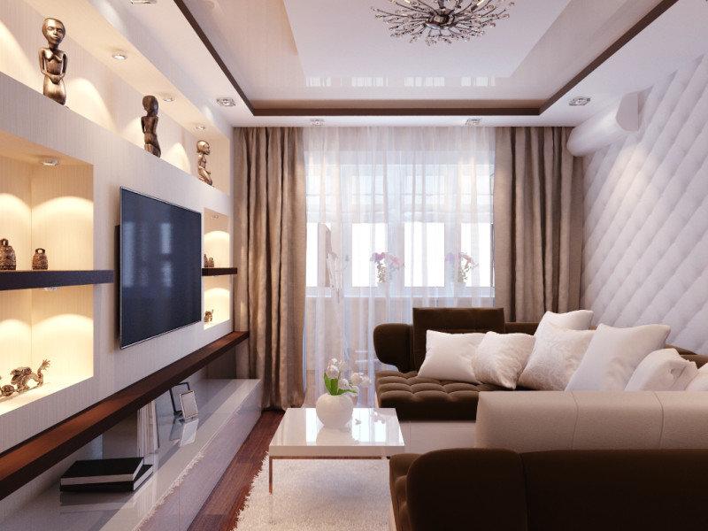 Советы по дизайну однокомнатных квартир 25