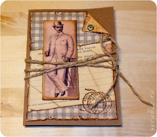 Днем, винтажные мужские открытки своими