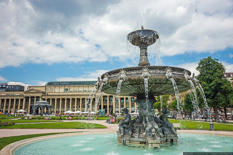 городской фонтан площади, Штутгарт