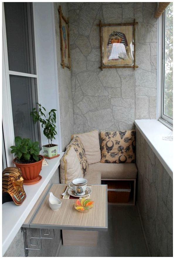 Интерьер балкона в квартире своими руками