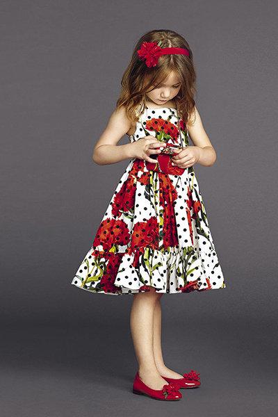 Платье в горошек для девочек – гвоздики