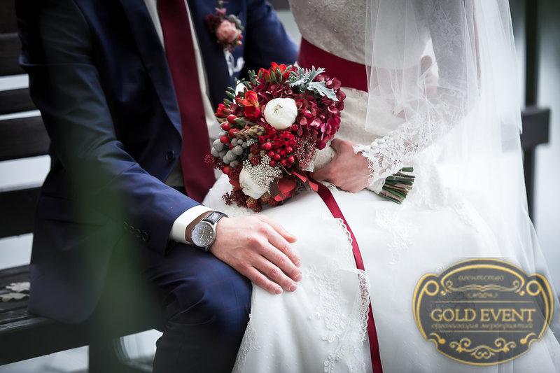 свадьба в стиле марсала фото