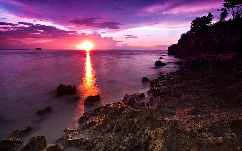 красивый закат на море классно