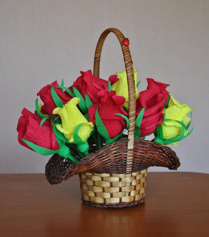 Цветов точка, подарки цветы в корзине своими руками из бумаги