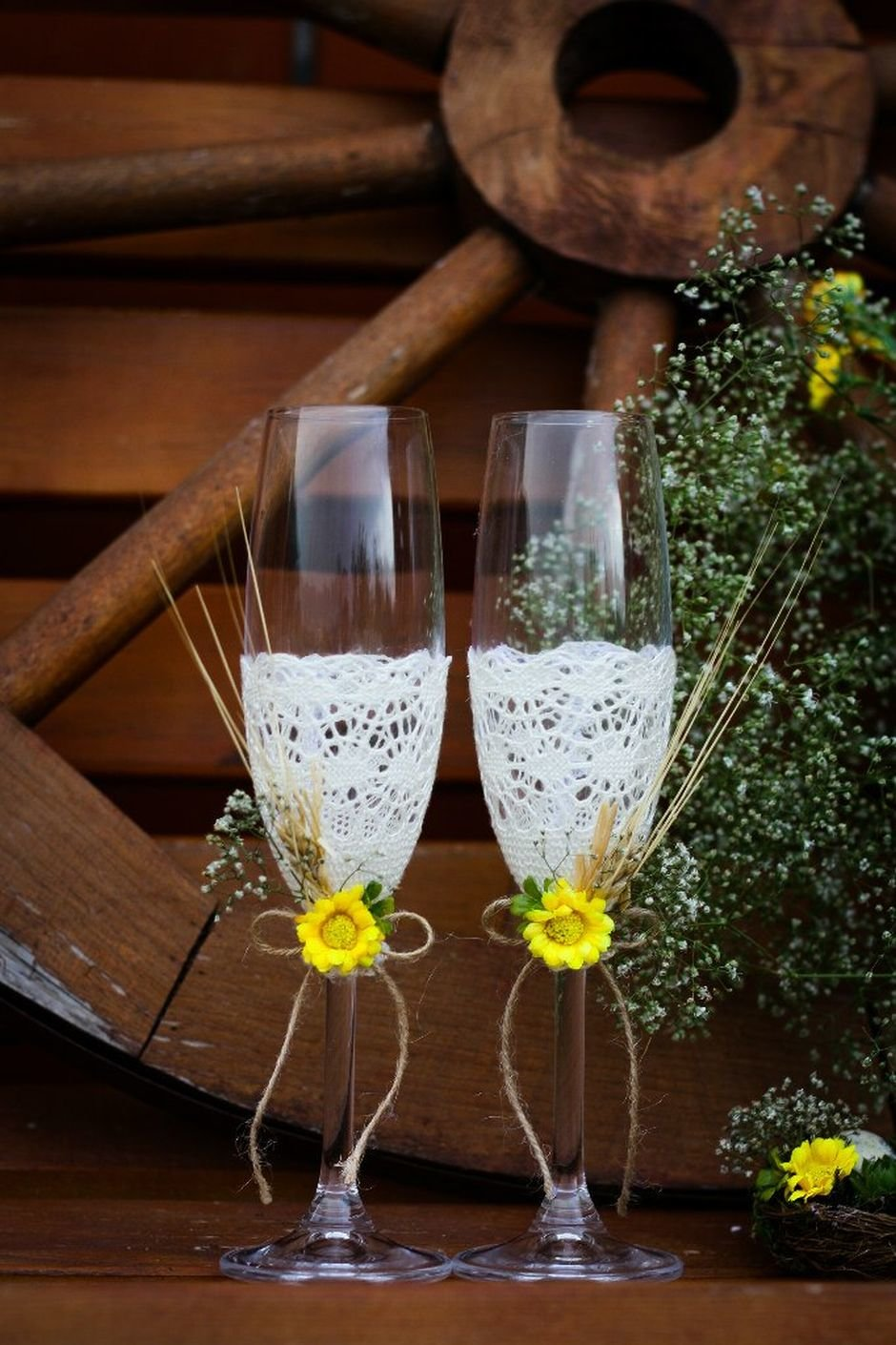 Ведро для шампанского на ножке фото