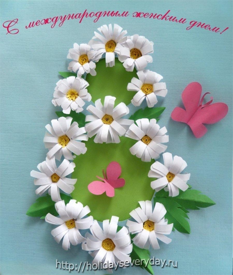 Открытка для мамы своими руками на 8 марта в начальной, движущаяся днем рождения