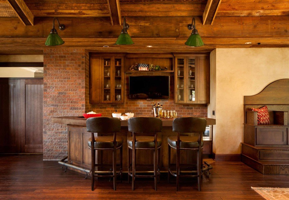 Interior : Contemporary Home Bar Interior Design Eas With Rustic Wooden  Homes Of Excerpt Wood Interior