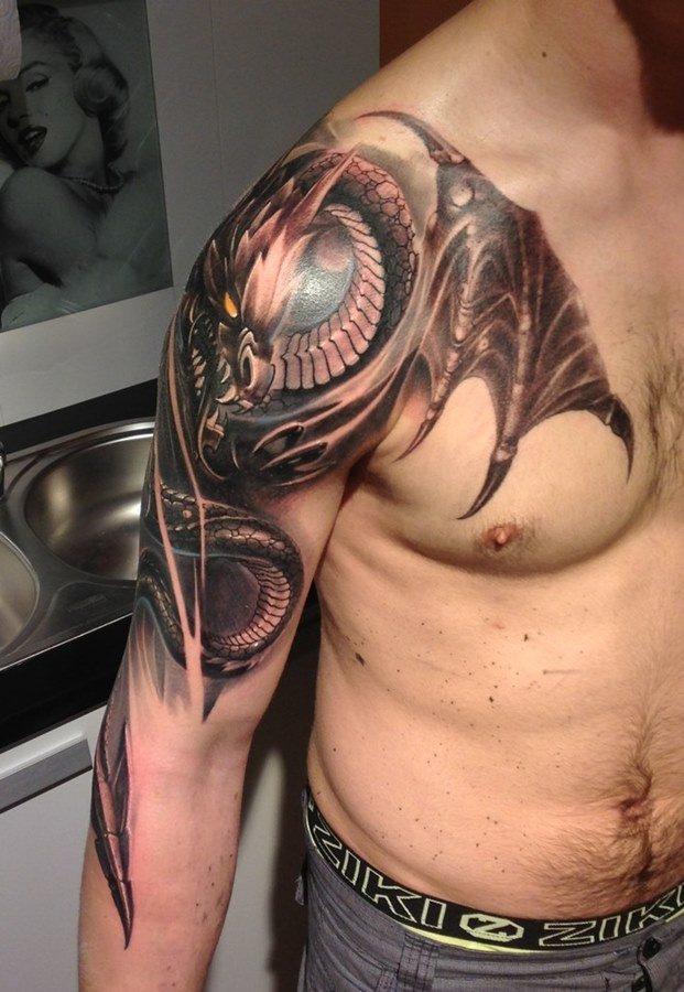 эскизы татуировок дракона на плече проводить гадание