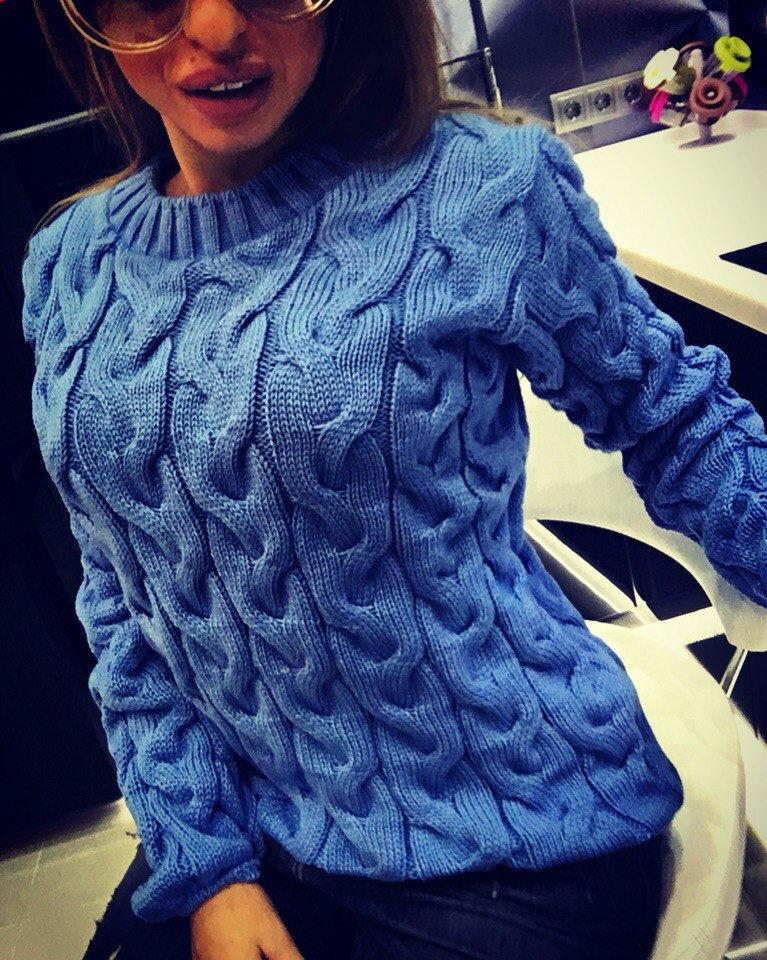 Вязание модных женских свитеров видео