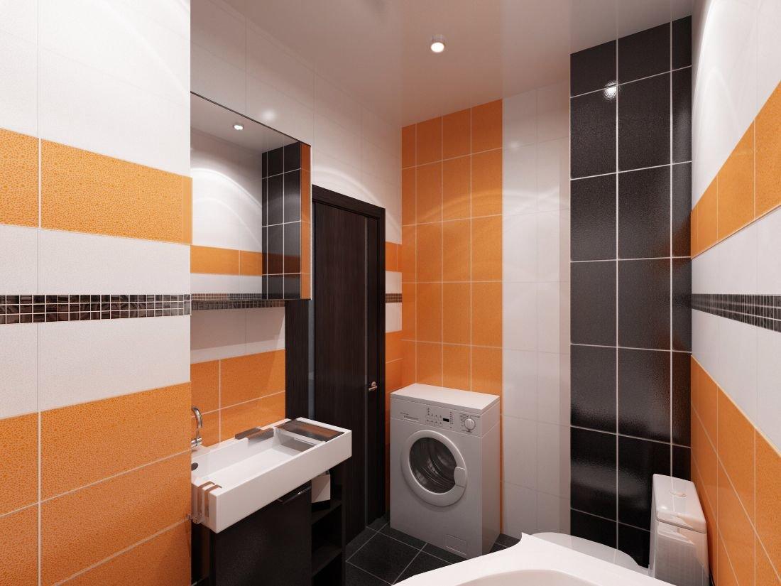 Ванная комната черно оранжевая inda мебель для ванн