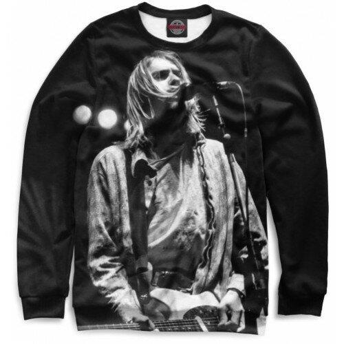 Мужской свитшот 3D Kurt Cobain