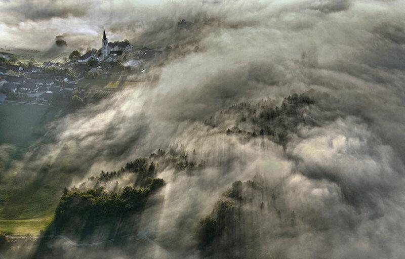 туман, редкий пейзаж